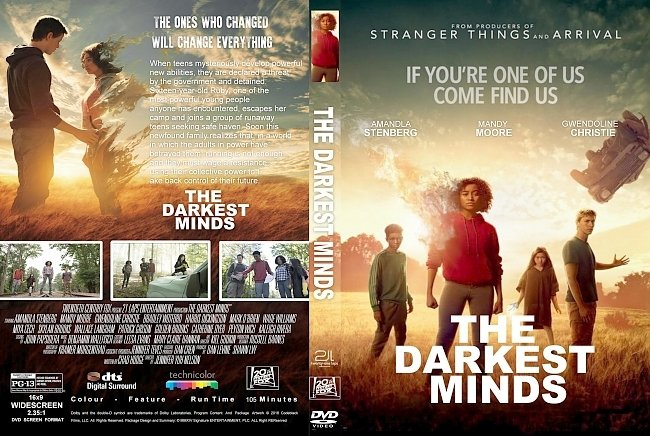 dvd cover The Darkest MINDS (2018) R1 CUSTOM DVD Cover & Label