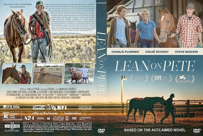 dvd cover Lean on Pete (2017) R1 Custom DVD Cover & Label