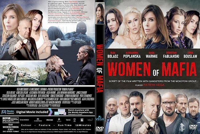 dvd cover Women Of Mafia (2018) R2 CUSTOM DVD Cover & Label