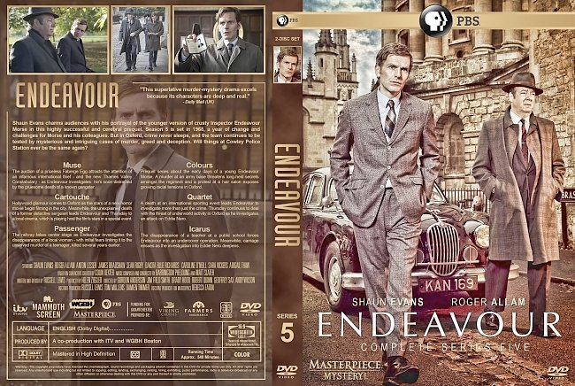 dvd cover Endeavour – Series 5 (2018) R1 Custom DVD Cover & Labels