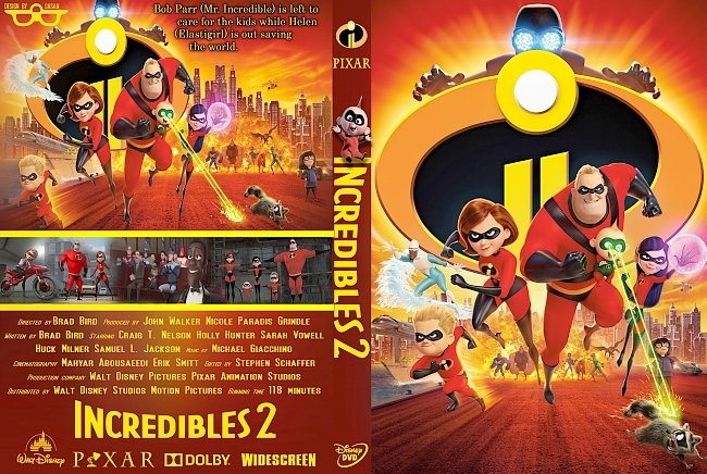 dvd cover Incredibles 2 (2018) R0 Custom DVD Cover