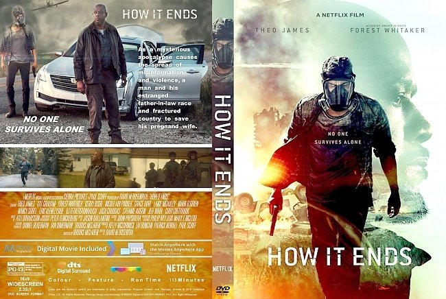 dvd cover How It Ends (2018) R1 CUSTOM DVD Cover & Label