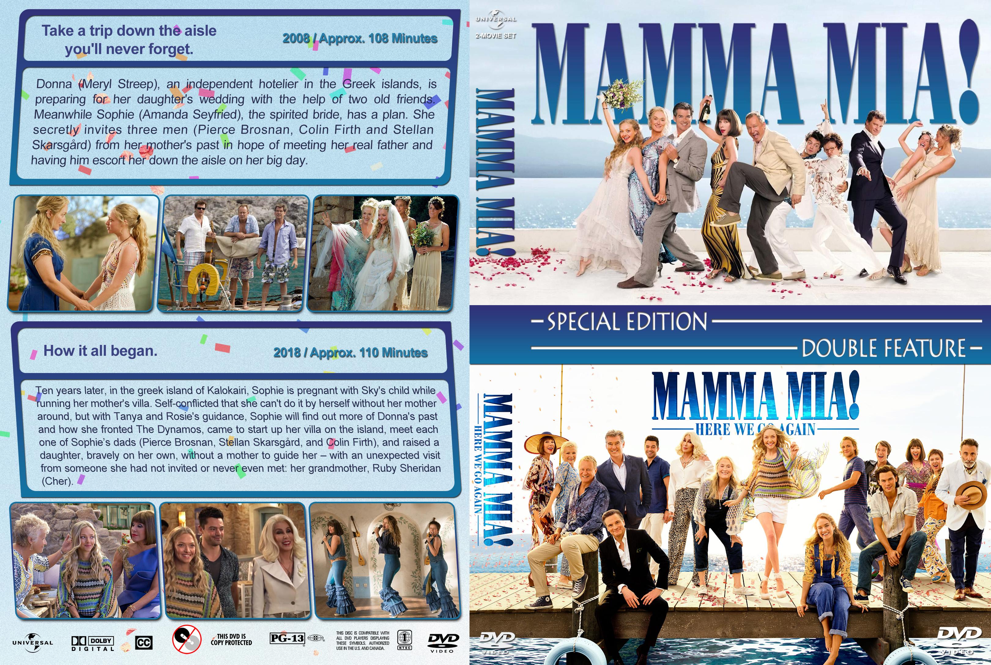 Mamma Mia Double Feature 2008 2018 R1 Custom Dvd Cover Dvd