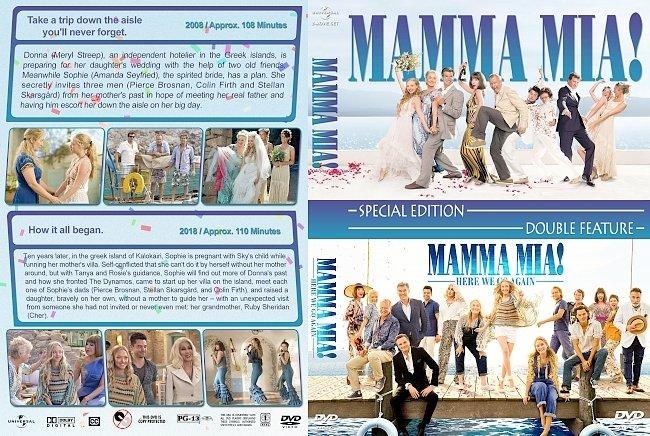 dvd cover Mamma Mia Double Feature (2008-2018) R1 Custom DVD Cover