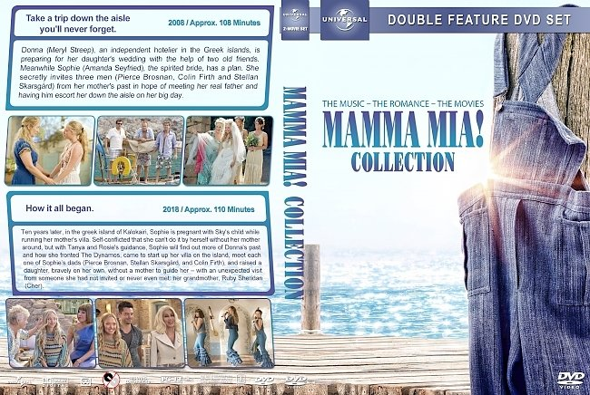 dvd cover Mamma Mia Collection (2008-2018) R1 Custom DVD Cover