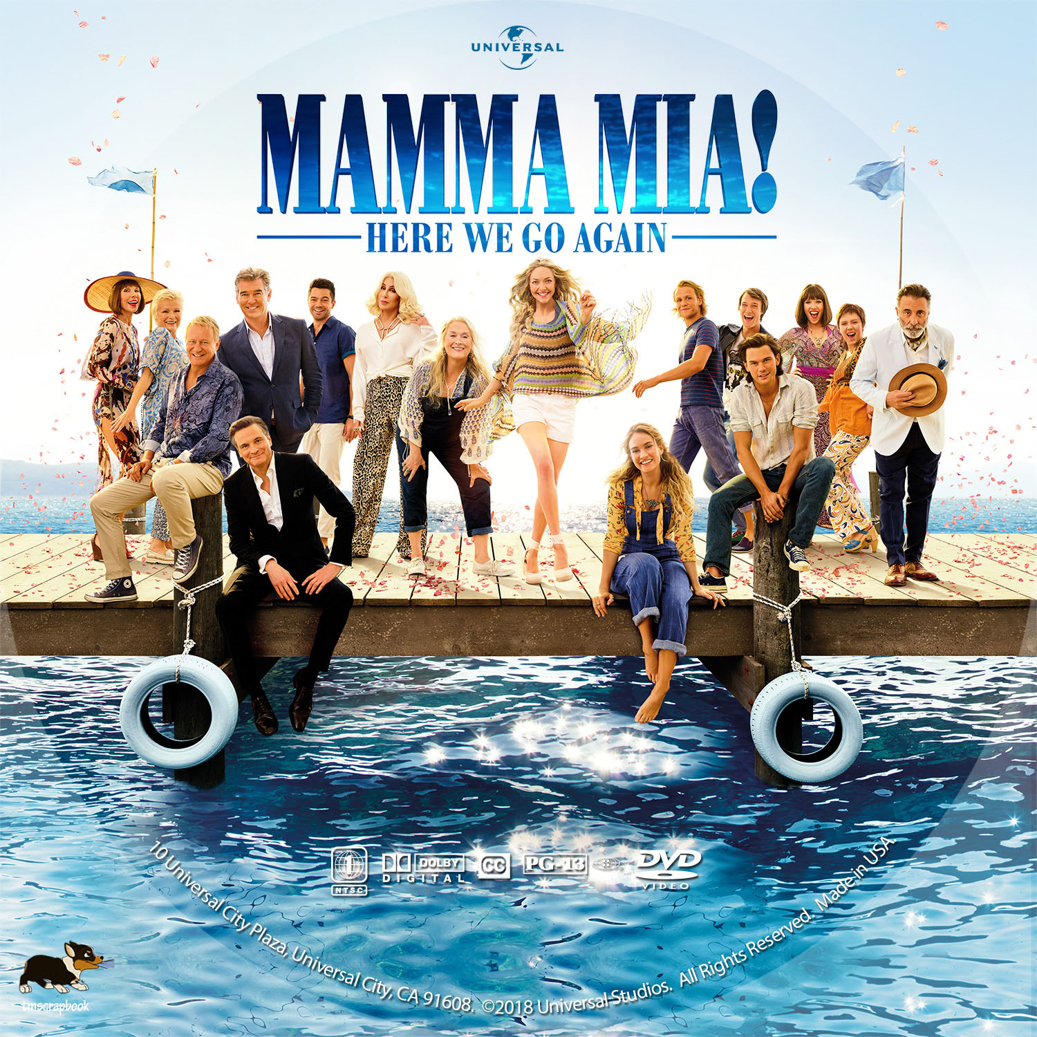 Mamma Mia Here We Go Again 2018 R1 Custom Dvd Label Dvd Covers And Labels