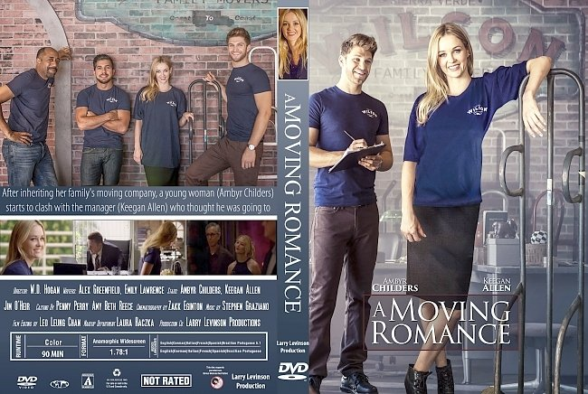 dvd cover A moving romance (2017) R1 Custom DVD Cover