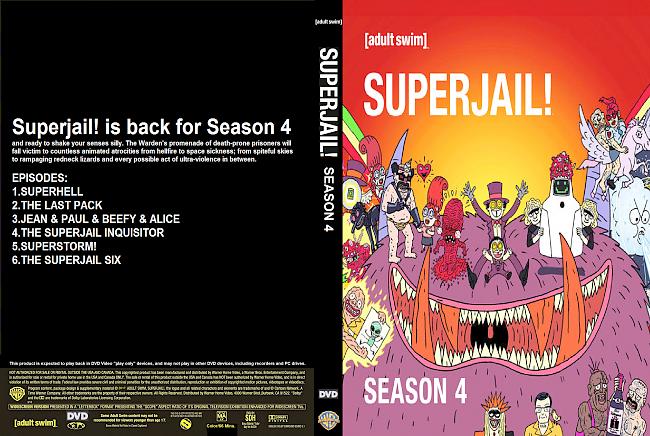 dvd cover Superjail Season 4 (2017) R1 Custom DVD Cover