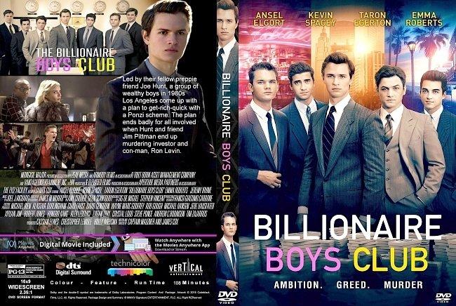 dvd cover Billionaire Boys Club (2018) R1 CUSTOM DVD Cover & Label