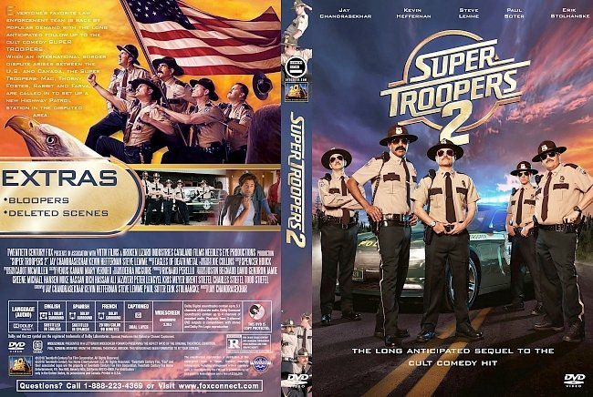 dvd cover Super Troopers 2 (2018) R1 Custom DVD Cover
