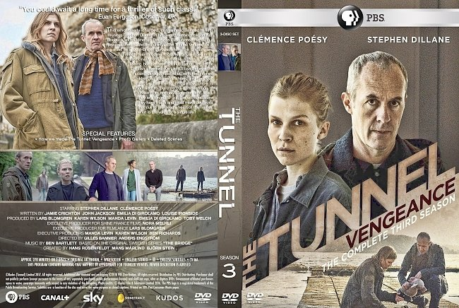dvd cover The Tunnel – Series 3 (2018) R1 Custom DVD Cover & Labels