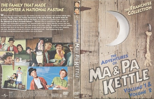 dvd cover The Adventures of Ma & Pa Kettle, Vol. 1 & 2 (2003) R1 DVD Cover