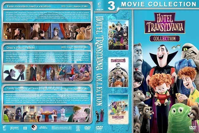 dvd cover Hotel Transylvania Collection (2012-2018) R1 Custom DVD Cover