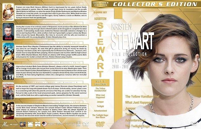 dvd cover Kristen Stewart Film Collection – Set 3 (2008-2009) R1 Custom DVD Covers