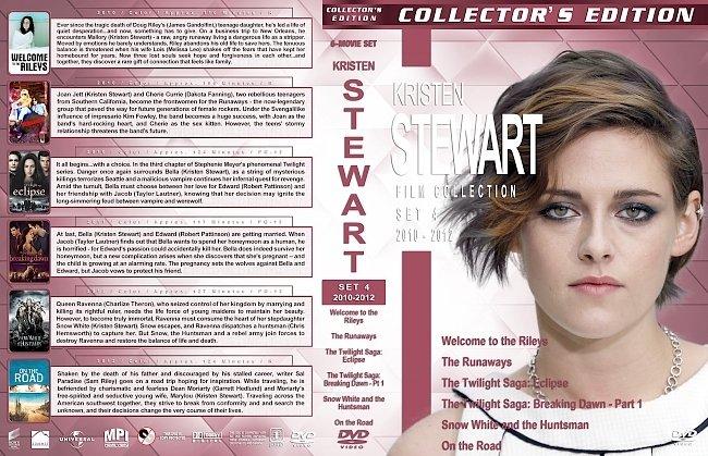dvd cover Kristen Stewart Film Collection – Set 4 (2010-2012) R1 Custom DVD Covers
