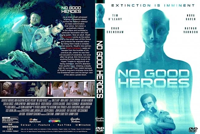 dvd cover No Good Heroes (2018) R1 CUSTOM DVD Cover & Label