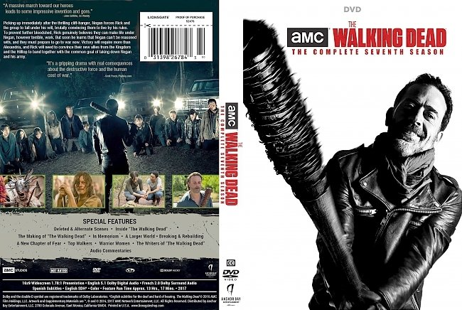 dvd cover The Walking Dead: Season 7 (2017) R1 DVD Cover & Labels