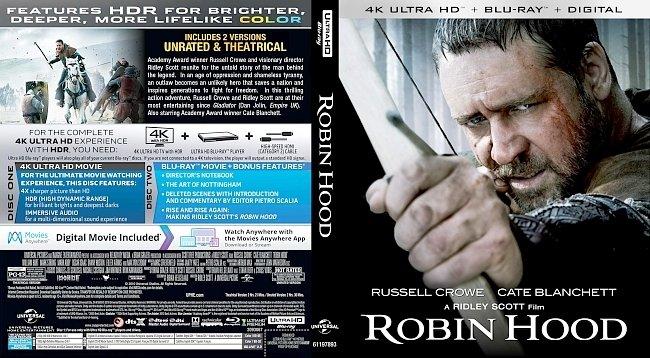 dvd cover Robin Hood 4k Bluray Cover