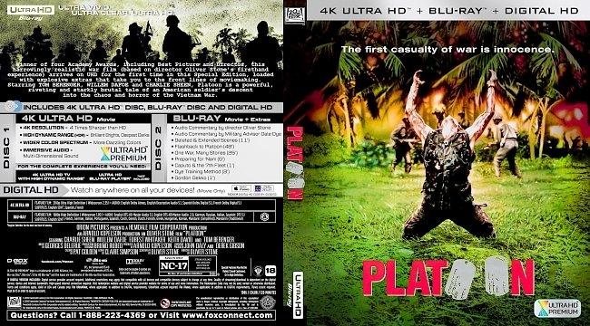 dvd cover Platoon 4k Bluray Cover