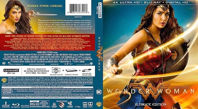 dvd cover Wonder Woman 4k Bluray Cover