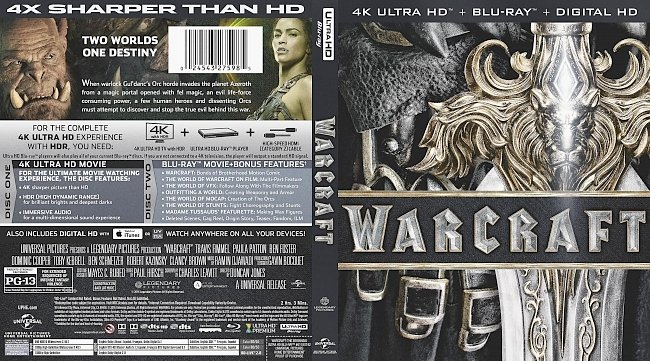 dvd cover Warcraft 4k Bluray Cover
