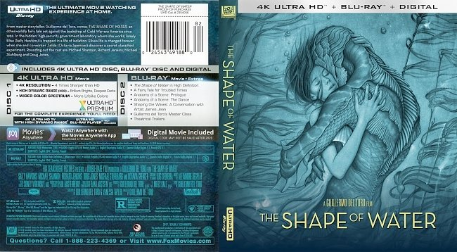 dvd cover The Shape of Water 4k Bluray Cover