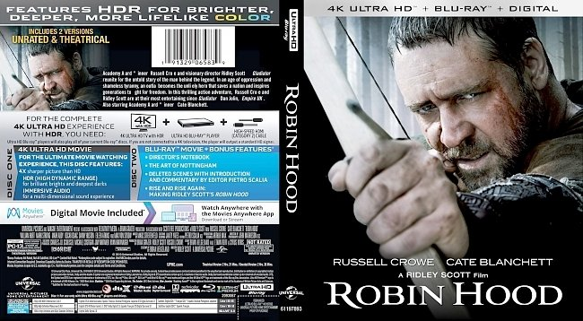 dvd cover Robin Hood 4k Bluray Cover