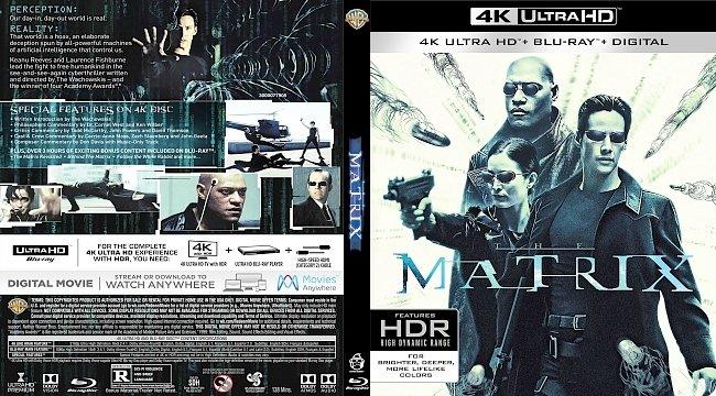 dvd cover The Matrix 4k Bluray Cover
