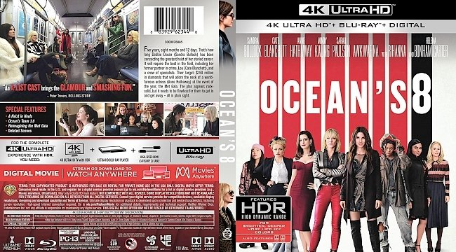 dvd cover Ocean's Eight 4k Bluray Cover