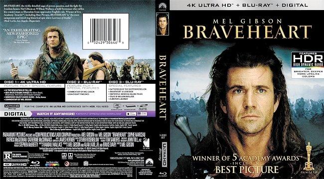 dvd cover Braveheart 4k Bluray Cover