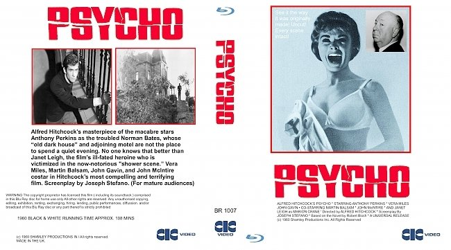 dvd cover Psycho (1960) Bluray Cover