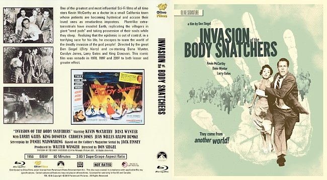dvd cover Invasion of the Body Snatchers (1956) Bluray Cover