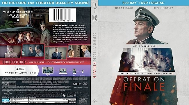 dvd cover Operation Finale Bluray Cover