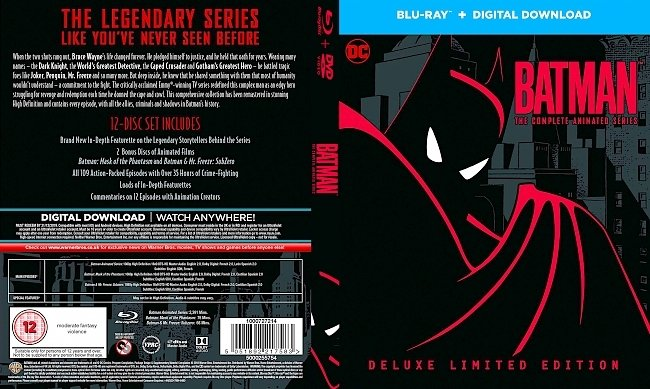 dvd cover Batman The Complete Animated Series Bluray Cover