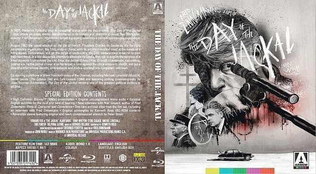 dvd cover The Day of the Jackal Bluray Cover
