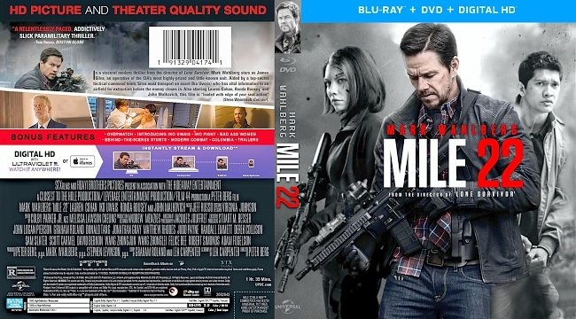 dvd cover Mile 22 Bluray Cover
