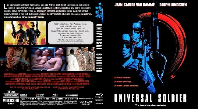 dvd cover Universal Soldier Bluray Cover