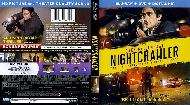 dvd cover Nightcrawler Bluray Cover