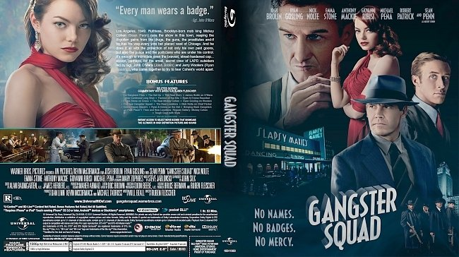 dvd cover Gangster Squad Bluray Cover