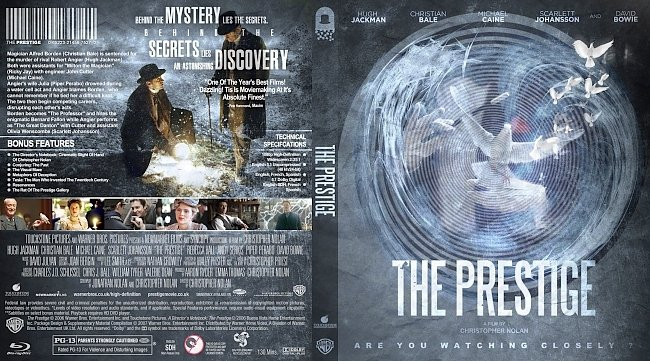 dvd cover The Prestige Bluray Cover