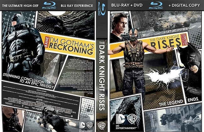 dvd cover The Dark Knight Rises Bluray Cover