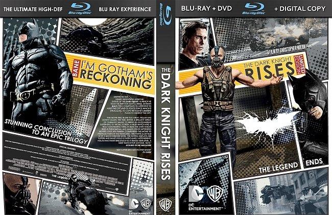 dvd cover The Dark Knight Rises Bluray Cover