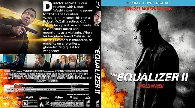 dvd cover The Equalizer 2 Bluray Cover