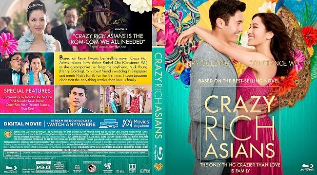 dvd cover Crazy Rich Asians Bluray Cover