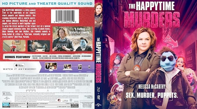 dvd cover The Happytime Murders Bluray Cover