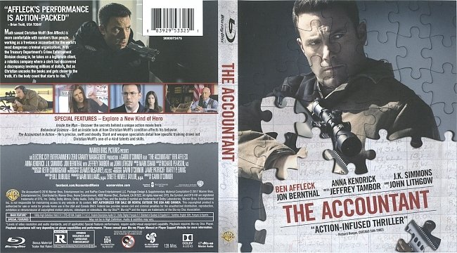 dvd cover The Accountant Bluray Cover