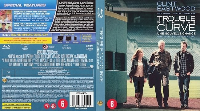 dvd cover Trouble with the Curve (Dutch) Bluray Cover