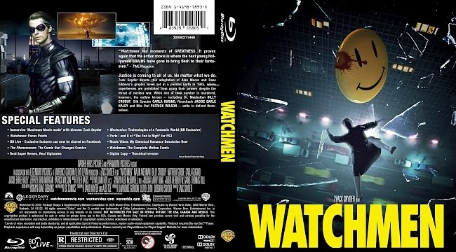 dvd cover Watchmen Bluray Cover
