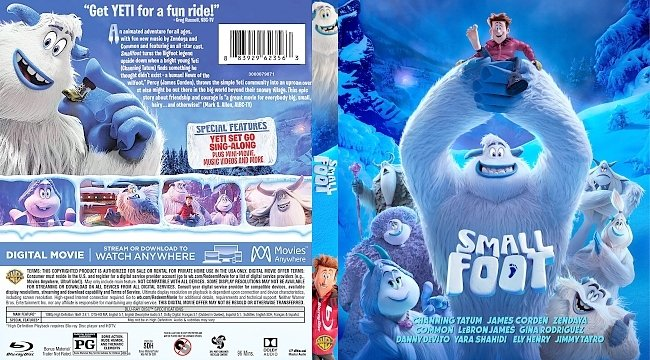 dvd cover Smallfoot Bluray Cover