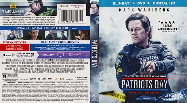 dvd cover Patriots Day Bluray Cover